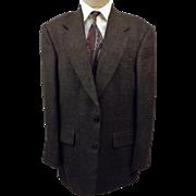 Oscar de la Renta Men's Black Nailshead Sport Coat Size 40 R