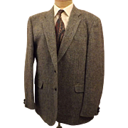 80's Vintage Men's Gray Sport Coat by Harris Tweed Size 40 S