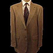 80's Ralph Lauren Chaps Silk Houndstooth Sport Coat Size 40 R