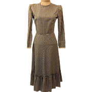 40s Jonathan Logan Gingham Lawn or Evening Dress Size 10