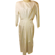 70s Vintage Katie Mfg Long White Evening Dress Size 14