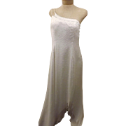 Vintage Nadine White Silk Sequin Evening Gown Size 11