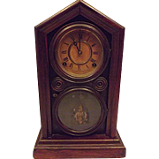 c1880 E Ingraham 8 Day  Kitchen Clock Doric Model