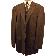 80s Chereskin Brown Camel Hair Sport Coat  Size 42 L