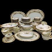 1933 Noritake Elaine Pattern Fine China Dinnerware Service for 8