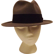 Vintage Gray Wool Felt Men's Fedora Hat Size 7