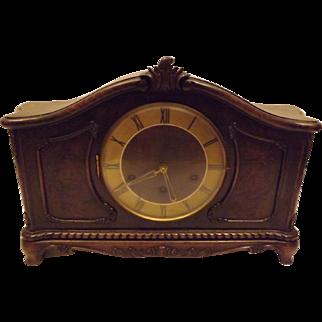 German Art Deco Style Tambour Mantle Clock by Gustav Becker