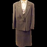 60s Vintage Pendleton Gray Wool Dress Suit Plus Size 22