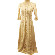 Antique 1910 Edwardian Ivory Wedding Dress Hand Made Size 2 P
