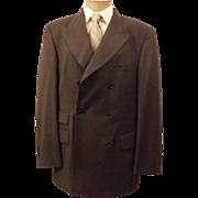 Vintage Hugo Boss Men's Gray Blazer Size 40