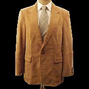 Vintage Pierre Cardin Natural Corduroy Sport Coat Size 40