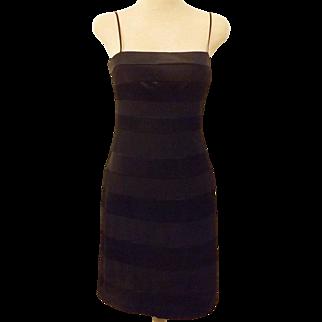 Vintage OC Oleg Cassini Short Black Party Dress Size 4