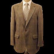 Vintage Stafford Brown Glen Check Sport Coat Size 42