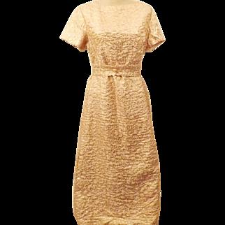 50's Handmade Pink Short Sleeve Evening Dress Size 14