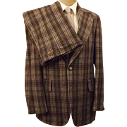 Martinelli 3 pc Gray Windowpane Plaid Suit Size 40