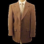 Vintage Oxford Shop Brown Herringbone Tweed Sport Coat Size 39