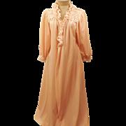 60's Donna Richard Pink Fleece Lace Women's Robe Size L