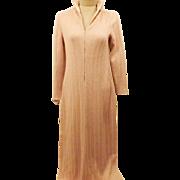 70's Francesca for Damon Pink Wool Knit Sweater Dress Size 12
