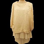 70's Carly Circle Blush Tiered Evening Dress Size 14