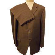 60s Vintage Langrock Princeton Brown Wool Mens Suit Size 40