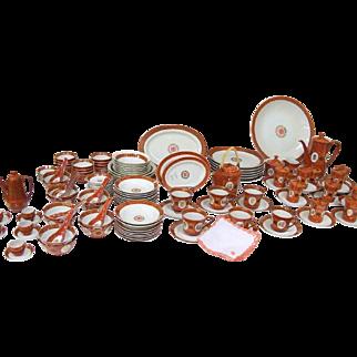 60's Datung Ciqi Taipei 162 pc Oriental Porcelain Dinnerware Set