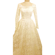 70's Vintage Alfred Angelo Original Wedding Gown Size 4