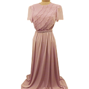 Vintage Lilac Mother of the Bride Groom Chiffon Gown Size Size 4