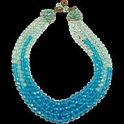 COPPOLA E TOPPO Blue, Faceted Glass Necklace