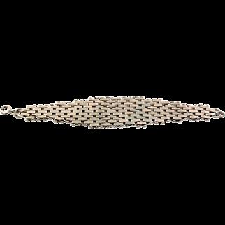 Classic JAKOB BENGEL Chrome Brickwork Bracelet
