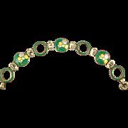 Deco Teal Green and Colorful Enamel Bubbles Bracelet