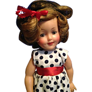 "15"" vintage Ideal vinyl Shirley Temple Doll"