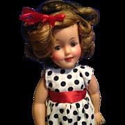 "15"" vintage Ideal vinyl Shirley Temple Doll"