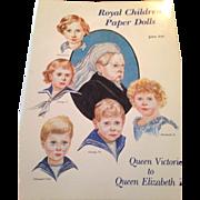 Royal Children Paper Dolls