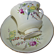 Paragon Princess Margaret Rose Fine Bone China Tea Cup and Saucer