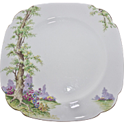 Greenwood Tree with Gold Trim pattern salad or luncheon plate by Royal Albert. 774783 Size 7 3/4 Square.