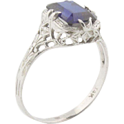 Customizable Filigree Style Ring - Pick Your Favorite Stone & Metal Colors - Make It Yours