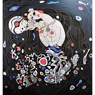 """Tie Feng Jiang, """"Mermaid"""", 1987 serigraph on paper Hand Signed Limited Edition AP 24/50"""