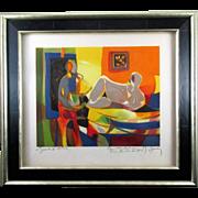 Marcel Mouly, Le Peintre et Son Modele (from the Retour de les Fauves suite), 1992 EA
