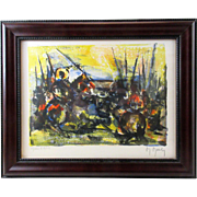 Cavaliers by Marcel Mouly, circa 1955 lithograph