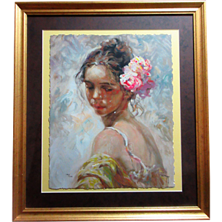 Royo, La Perla limited edition serigraph with COA