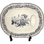 Rare Antique Gustavsberg Transfer-Ware Meat Platter