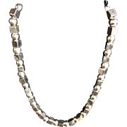Vintage Taxco 925 Sterling Silver Bead Necklace Signed TR-59 Mexico