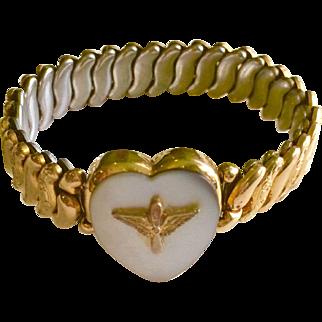 WW II Co-Star Army Wings Sweetheart Bracelet