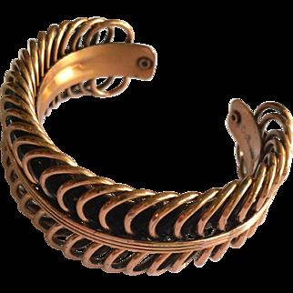 Vintage Renoir Coiled Copper Bracelet