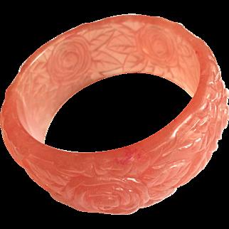 Vintage Salmon Color Lucite Bangle