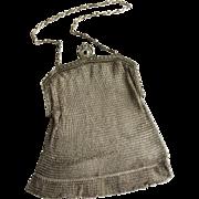 Vintage Whiting & Davis Signed 1920's Mesh Evening Bag