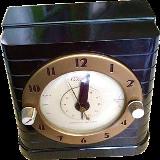Vintage Telechron Bakelite Art Deco Clock & Household Timer
