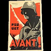 1936 Propaganda Postcard Spanish Civil War - Avanti!