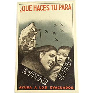 1936 Propaganda Postcard - Spanish Civil War - Original