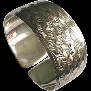 Lutz & Weiss 800 Silver Cuff Bracelet